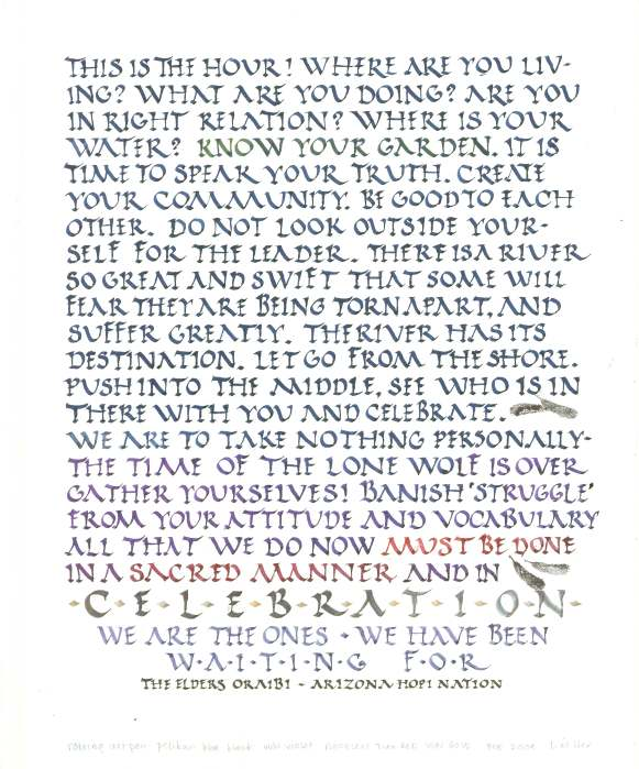 wisdom of the ancients--hopi oraibi elders