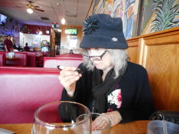Lunch in Petaluma, near the laundromat, while getting the accordion fixed