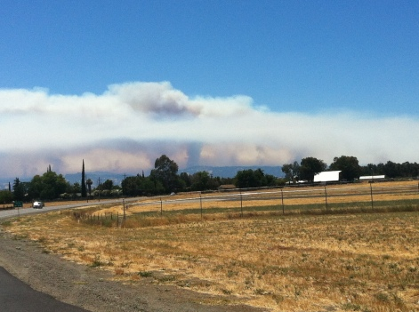Fire near Berryessa on the way home from Lincoln